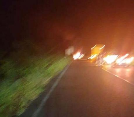 Затвориха пътя София-Варна заради запалил се тир